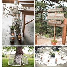 rustic ideas for the garden area