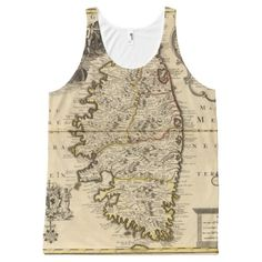 Corsica All-Over Print Tank Top Tank Tops
