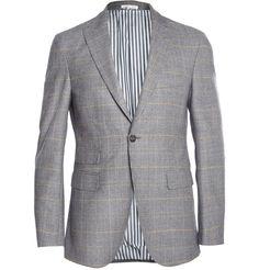 Michael Bastian - Slim-Fit Prince Of Wales Check Wool Blazer |MR PORTER