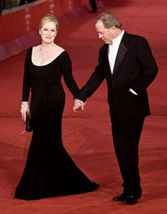 Meryl Streep with ith Don Gummer at the 4th International Rome Film Festival, in October 2009.