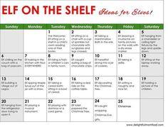 Get ready for the holidays mamas and daddas! Elf on the shelf ideas for a month!#elfontheshelfideas #elfontheshelf #christmas | Delightful Mom Food