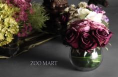 ZOO·MART 紫红色玫瑰组合花艺E 法式 美式 新古典样板房/摆设