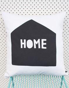 Charcoal Home Sweet Home Cushion