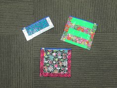 """Library Card Holder - craft for """"Escape from Mr. Lemoncello's Library"""" program - use colored duct tape to cover the outside of a zippered plastic bag - bag can be cut to whatever size you prefer."""