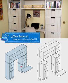 ¿Cómo hacer un ropero escritorio infantil? Apréndelo paso a paso. #HUM