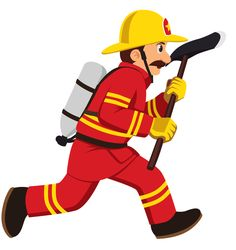 Firefighter running with axe png Firefighter Images, Firefighter Clipart, Firefighter Drawing, Firefighter Crafts, Female Firefighter, Thin Blue Line Decal, Paper Quilling Patterns, School Labels, Clip Art