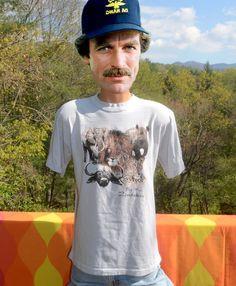 vintage 80s tee shirt ZIMBABWE big five animals zebra elephant lion african safari t-shirt XL Large by skippyhaha