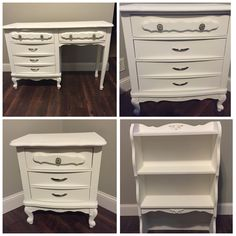 We refinished these beautiful Sears Bonnet French Provincial furniture pieces this weekend.