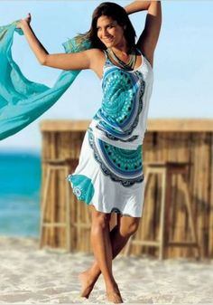 Women's Beach Dresses for Hot and Sexy Beach Look - Summer Dresses Short Beach Dresses, Casual Summer Dresses, Summer Dresses For Women, Summer Outfits, Beach Attire For Women, Sun Dresses, Dresses 2014, Floral Dresses, Style Bobo Chic