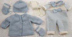 Baby Knitting Patterns Girl Knitting baby born clothes - Knitting a wonderful baby doll set Knitted Doll Patterns, Knitted Dolls, Baby Knitting Patterns, Baby Patterns, Knitting Ideas, Crochet Patterns, Knitting Dolls Clothes, Doll Clothes Patterns, Clothing Patterns