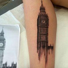 Big Ben Tattoo by Rose Harley