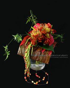 Beautiful exotic wedding bouquet by Svetlana Chernyavsky.