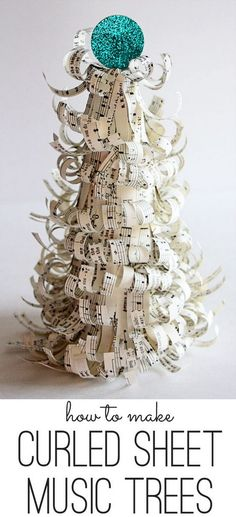 Curly Sheet Music Trees.