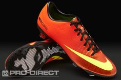 Nike Football Boots - Nike Mercurial Vapor IX FG - Firm Ground - Soccer Cleats - Sunset-Volt-Total Crimson-Black