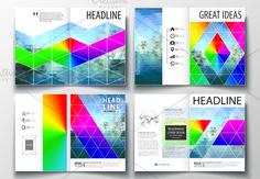 A4 format brochures v.28, abstract design brochure by VectorShop on @creativemarket