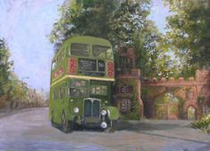 Image result for green double decker bus Rickmansworth 1960's