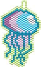Beading Pattern: Jellyfish Earring / Charm | Megan's Beaded Designs