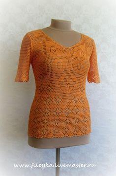 Delicadezas en crochet Gabriela: Blusas filet