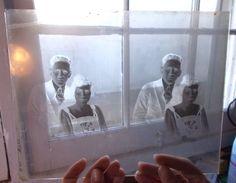 """Antique 1800 - 1900 Glass Negative Couple Portrait Photo Picture 8"""" x 10"""""""