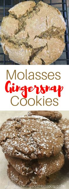 This Molasses Gingersnap Cookie recipe is filled with the warmth of holiday spices and delicious ingredients. The cookie is perfect for any holiday, including Christmas.