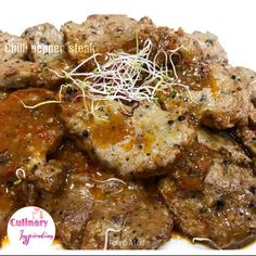 Spicy Pepper Fillet Steak And Cheesy Potatoes recipe by Fatima A Latif posted on 19 Apr 2019 . Recipe has a rating of by 1 members and the recipe belongs in the Beef, Mutton, Steak recipes category Steak Recipes, Potato Recipes, Beef Fillet, Microwave Bowls, Masala Recipe, Peeling Potatoes, Cheesy Potatoes, Food Categories, Steaks