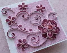 Card - matrimonio - anniversario di compleanno - cartolina d'auguri - madre - compleanno quilling