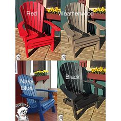 This Phat Tommy Adirondack Chair Has A Contoured Seat And Back For Comfortable