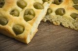 focaccia with olives focaccia is flat oven baked Italian bread