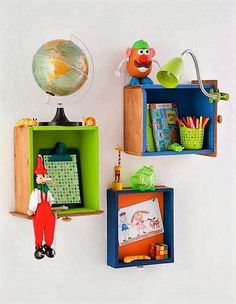 pallet fruit crates shelving for kids