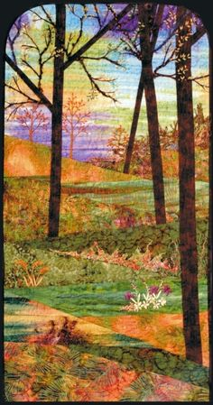 THIS is what I want to do! Art Quilts Landscapes | Landscape quilt by Spirit Sister                   loving fabric and fiber