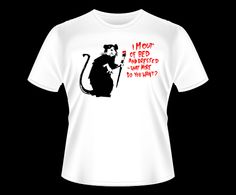 Banksy - Out of Bed Camiseta T-Shirt Tee
