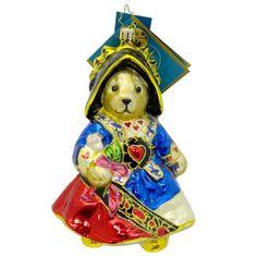 Radko MUFFY QUEEN OF HEARTS 1012640 Ornament Teddy Bear Cards New
