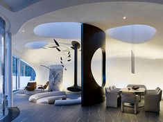 Home Interior Vintage Futuristic Home, Futuristic Architecture, Concept Architecture, Interior Architecture, Amazing Architecture, Vintage Architecture, Sustainable Architecture, Quirky Home Decor, Home Interior