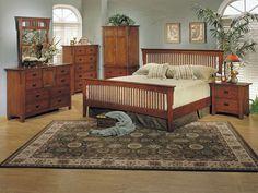 Love Mission Style Furniture Oak Bedroom Wood Solid