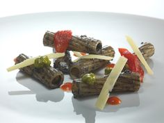 Tortiglioni with Olives Pesto - By Heinz Beck