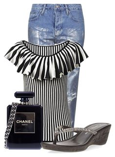 """""""Untitled #14592"""" by nanette-253 ❤ liked on Polyvore featuring Topshop, French Connection, Chanel and Dorothy Perkins"""
