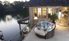Ahhhh.... perfect lake house porch...