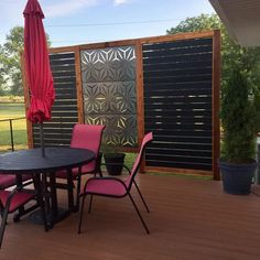 H x ft. W Screen Series Metal Privacy Screen Privacy Wall On Deck, Garden Privacy Screen, Privacy Fence Designs, Privacy Panels, Patio Wall, Backyard Patio Designs, Backyard Pergola, Patio Decks, Pergola Ideas