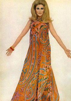 Maxi dress long 60s