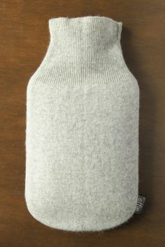 Cashmere Hot Water Bottle Cover. Gifts for Women. Soft Grey Cashmere Cover for Hot Water Bottle. Luxury Gift Idea for Mom Sister Wife Friend