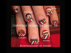 5 christmas nail art tutorials in one
