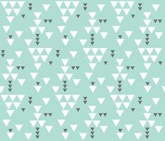 FABRIC: aqua charcoal triangle fall - eivie&co - Spoonflower