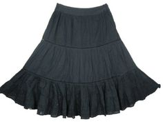 "Black Skirt, Stripe Printed Bohemian Gypsy Tiered Skirt for Womens 32"" Mogul Interior,http://www.amazon.com/dp/B00BIGKMLC/ref=cm_sw_r_pi_dp_4U9jrb0C3YJ5S8K7"