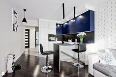 Nowoczesny salon z kuchnią w aneksie. - zdjęcie od sandroom - Kuchnia - Styl Nowoczesny - sandroom