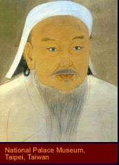Chinggis Khan, though illiterate, was open to new ideas and wanted to create a peaceful empire. He established a new capital in the steppes at Karakorum and hired talented individuals from all conquered regions. He used the knowledge of Muslim and Chinese bureaucrats to build an administrative structure for the empire. A script was devised for the Mongolian language, and a legal code helped end old quarrels.