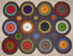 Free Wool Penny Rug Patterns | More Penny Rug & Primitive Wool Felt Folk Art Designs - Lady Liberty ...