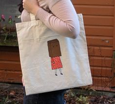 paper bag head tote bag