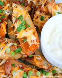 Echoes of Laughter: Cajun Potato Skins with Cheese, Bacon & Green Onion #HolidayAppetizers