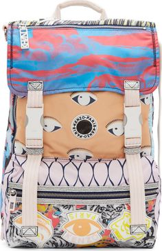 Kenzo Peach Signature Prints Urban Backpack