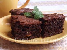 Brownies (čokoládový koláč) s lieskovcami :: Recepty